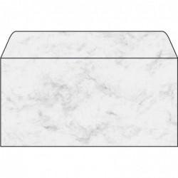 SIGEL enveloppe, long, 90 g/m2, gommé, marbre gris