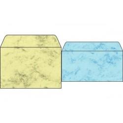 SIGEL Enveloppe, C6, 90 g/m2, gommé, marbre gris
