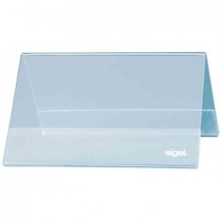 SIGEL Lot de 10 Présentoirs de table 95 x 42 mm en plastique rigide