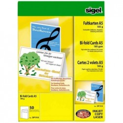SIGEL Cartes 2 volets A5...