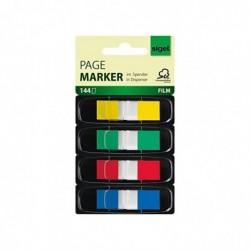 "SIGEL Index repositionnables ""Z-Marker"" Film 12,5 x 43 mm 4 Couleurs"