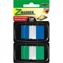 """SIGEL Index repositionnables """"Z-Marker"""" Film Color-Tip,"""