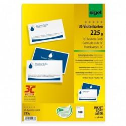 SIGEL Cartes de visite 3C 85 x 55 mm 225 g extra blanc 100 sur 10f