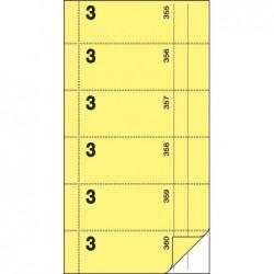 """SIGEL Bloc de formulaires """"carnet de bons"""", serveur Nº 3, jaune clair"""