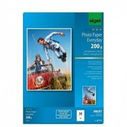 SIGEL Pqt 50 Feuilles papier photo Jet d'encre Everyday-plus A4 200g Brillant