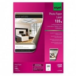 SIGEL Pqt de 200 Papier photo Laser A4 170 g Glacé recto-verso