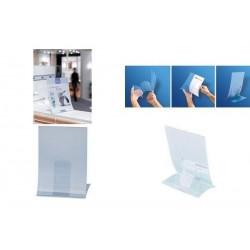 SIGEL Présentoir de table, plastique rigide, format A4,