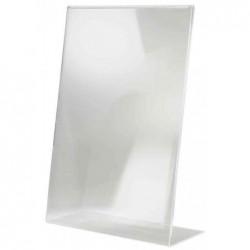 SIGEL Présentoir de table Incliné Format A5 Acrylique Transparent