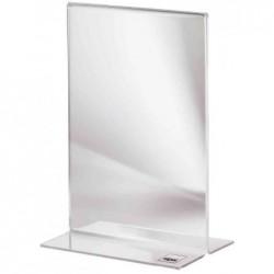 SIGEL Présentoir de table Acrylique DL 110x220 mm en Hauteur Transparent