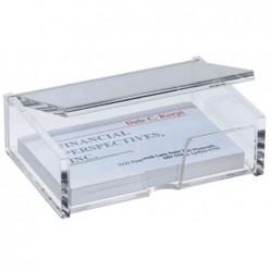 SIGEL Boîte cartes de visite, jusqu'à 90 x 58 mm Acrylique Transparent