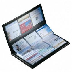 SIGEL Porte-cartes de visite Intercalaires autocollants 288 cartes 90 x 58 mm Noir