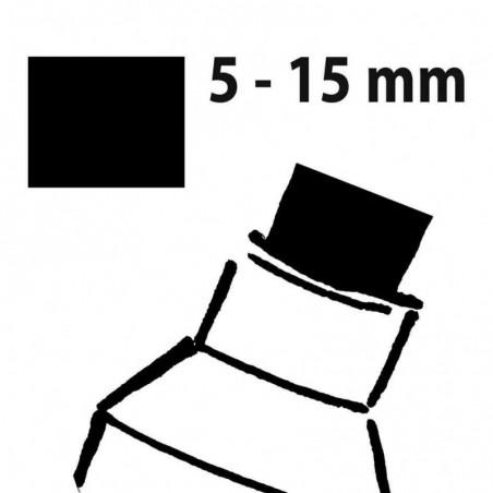 SIGEL Marqueur à craie, pointe biseautée: 5 15 mm, noir