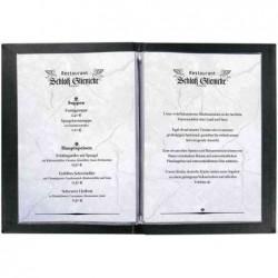 SIGEL Chemise pour carte de menu, A4, noir, reliure à