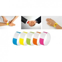 "SIGEL Bracelets d'identification ""Super Soft"", jaune néon, pqt 120"