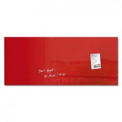 SIGEL Tableau magnétique ARTVERUM Rectangle 130 x 55 cm Rouge