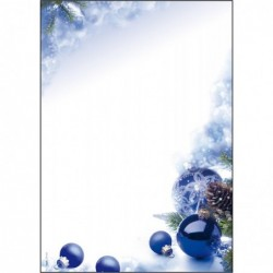 """SIGEL Pqt de 100 Feuilles Papier à motif de Noel """"Blue Harmony"""" A4 90 g"""
