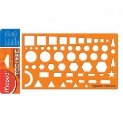 MAPED Gabarit NORMOGRAPHE TECHNIC Orange