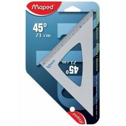MAPED Equerre 45 degrés Aluminium Hypothénuse 21 cm