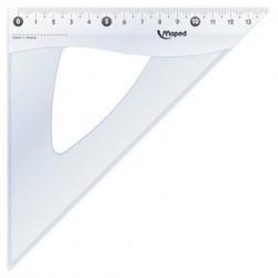 MAPED Equerre Cristal 45 degrés Hypoténuse 21 cm
