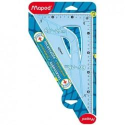MAPED Equerre Flex Incassable 60 degrés longueur 26 cm
