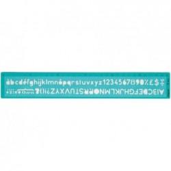MAPED Trace lettre 30 cm hauteur de caractère: 8 mm Vert transparent