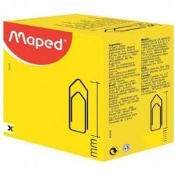 MAPED Attache lettres en acier nickelé et bout chevron,32mm, boîte de 1000