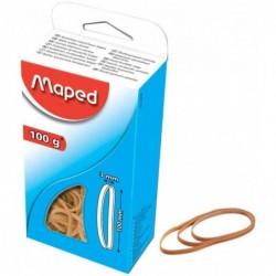 MAPED Bracelets caoutchouc sous carton, nature, 70 x 5 mm