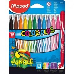 MAPED étui en carton de 12 feutres COLOR'PEPS Jungle
