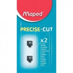 MAPED Lames de rechange pour rogneuse Precise Cut, Blister de 2