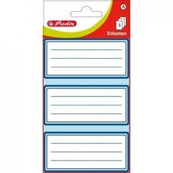 HERLITZ Etiquettes pour livres 68 x37 mm blanc avec cadre bleu 3 feuilles de 3