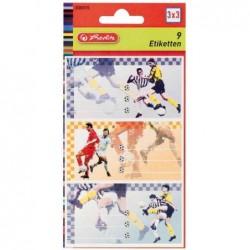 HERLITZ Étiquettes Football pour livres, 78 x 42 mm