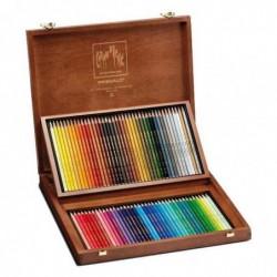 CARAN D'ACHE coffret bois de 80 crayons de couleur PRISMALO