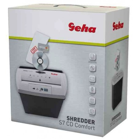 GEHA Destructeurs Shredder S7 CD Comfort Coupe droite 7 mm 7 Feuilles 13 L