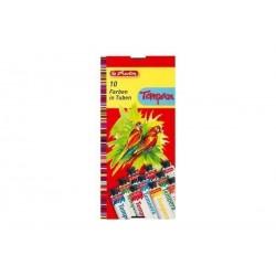 HERLITZ gouaches en tubes, couleurs assorties, boîte de 6