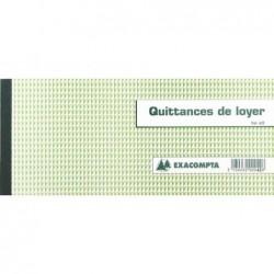 """EXACOMPTA Carnet à souche """"Quittances de loyer"""" 135 x 185 mm 50 Feuillets"""