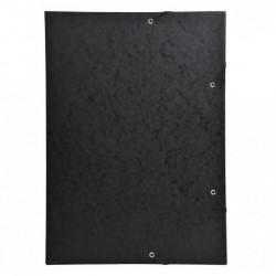 EXACOMPTA Chemise 3 rabats à élastique A3 carton 600g Noir