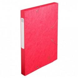 EXACOMPTA Boite de classement Cartobox Dos 25mm Carte lustrée Nature Future® Rouge