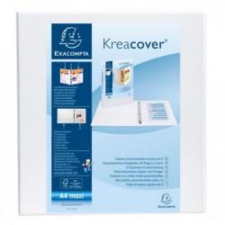 EXACOMPTA Classeur personnalisable Kreacover, A4 Maxi Blanc Dos 70 mm