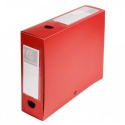 EXACOMPTA Boîte De classement fermeture à pression PP Dos de 80 mm Rouge