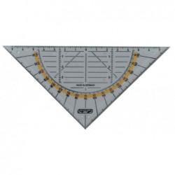 HERLITZ Equerre de géométrie plastique transparent Hypothénuse 16cm