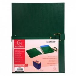 EXACOMPTA Chemise à boucle métal EXTENSOR 24x32 cm Capacité 16 cm Vert