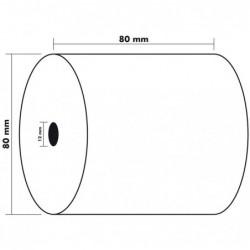 EXACOMPTA Lot de 5 Bobines 1 pli thermique 55g 80x80x12 mm 76 mètres