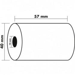 EXACOMPTA Lot de 5 Bobines 1pli therm 55g 57x40x12 mm 18 mètres