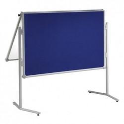 MAUL Tableau d'information rabattable textile bleu/tab blanc Gris