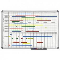 MAUL Tableau de planning mensuel - annuel MAULoffice 60 x 90 cm Gris