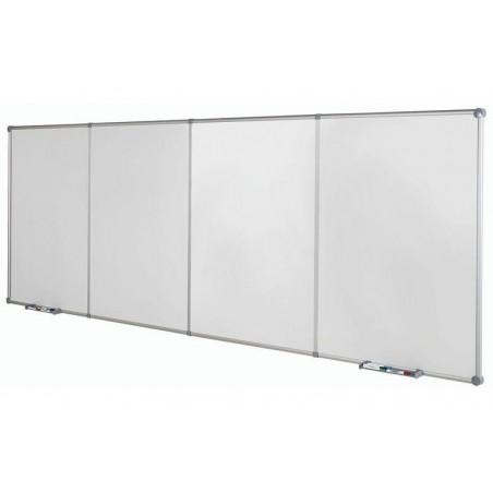 MAUL Tableau blanc continu émaillé 2 modules de base portrait Gris
