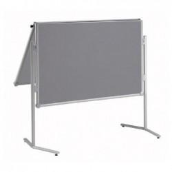 MAUL Tableau d'information MAULpro rabattable textile 150x120cm Gris