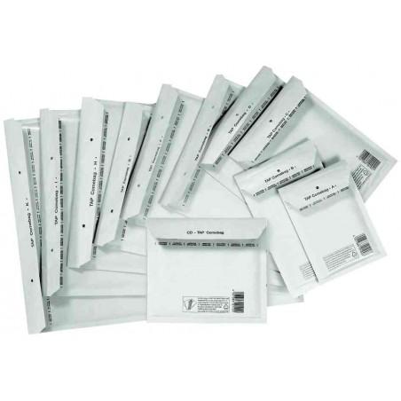 TAP pack de 10 Pochettes d'expédition bulles d'air E15 240(210)x275(265) mm blanc