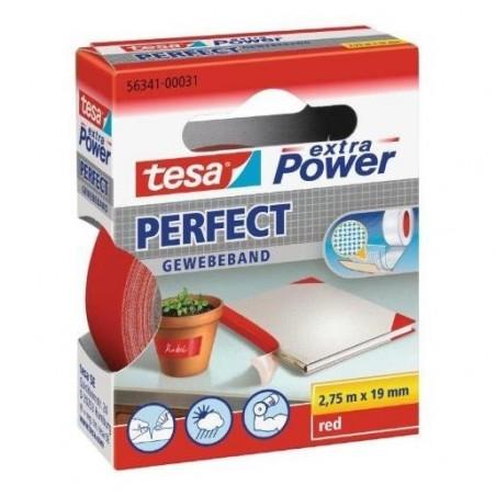 TESA Ruban toilé adhésif Extra power 19 mm x 2,75 m Rouge