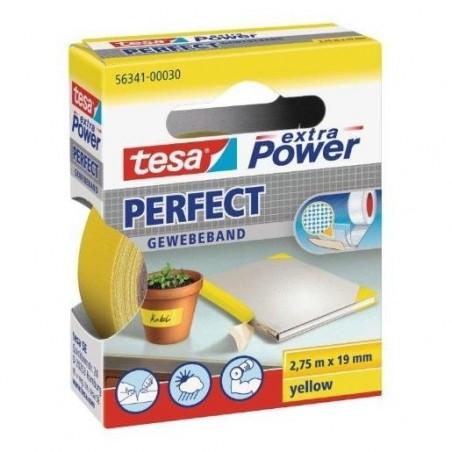 TESA Ruban toilé adhésif Extra power 19 mm x 2,75 m Jaune
